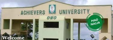Achievers University Student Should Please Take Note Of This Important Information About Resumption