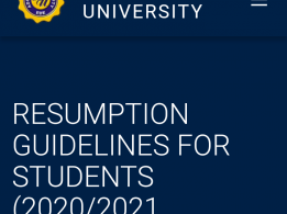 Adeleke University resumption dates and guidelines for 2020/2021 session